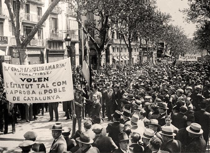 Resultado de imagen de estatuto autonomia cataluña 1917